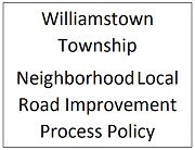 Road Improvement Policy Link