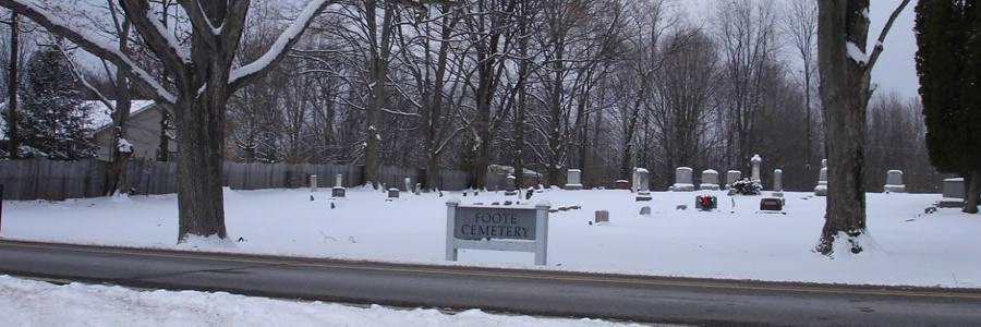 Foote Cemetery on Sherwood Rd. was organized in 1858.